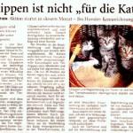 """Vorgestellt im Anzeiger für Harlingerland am 7. April 2014: Chippen ist nicht """"für die Katz"""". Der Klick auf's Bild führt zum Artikel im PDF Format."""
